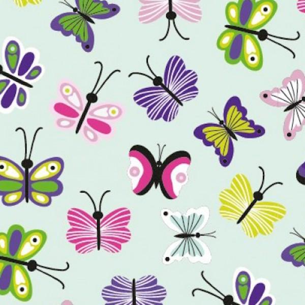 Sweet Butterfly auf hellem mint, Jersey