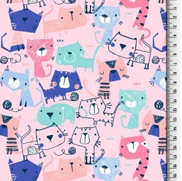 Sweet Cats rosa, Webstoff