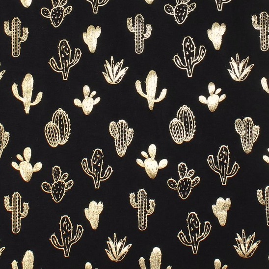 Kaktus gold auf schwarz, Jersey