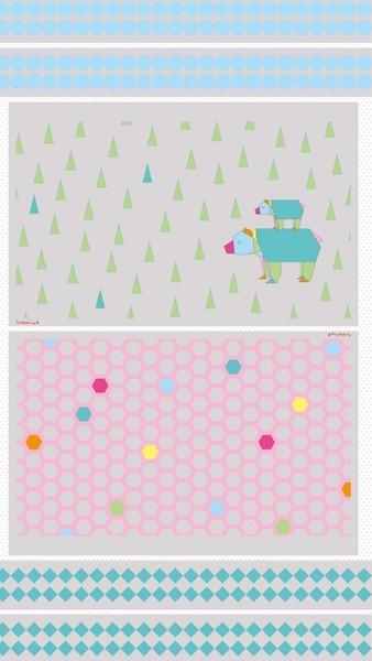 Farbenmix Geometrix Taschenstoff, Coupon Bär, *Letztes Stück*