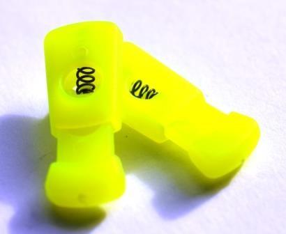 Kordelstopper, neongelb, rechteckig
