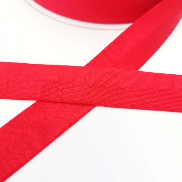 Baumwolljersey-Schrägband ohne Elasthan, rot