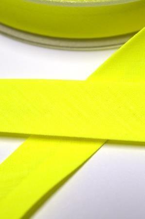 Schrägband, 20 mm, neongelb
