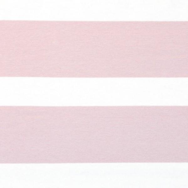 Bretone Streifen breit altrosa-weiß, Jersey