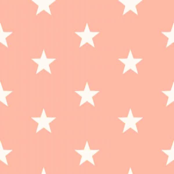 Lili Big Star weiß auf hellem apricot, Webstoff, waschbar bei 60°