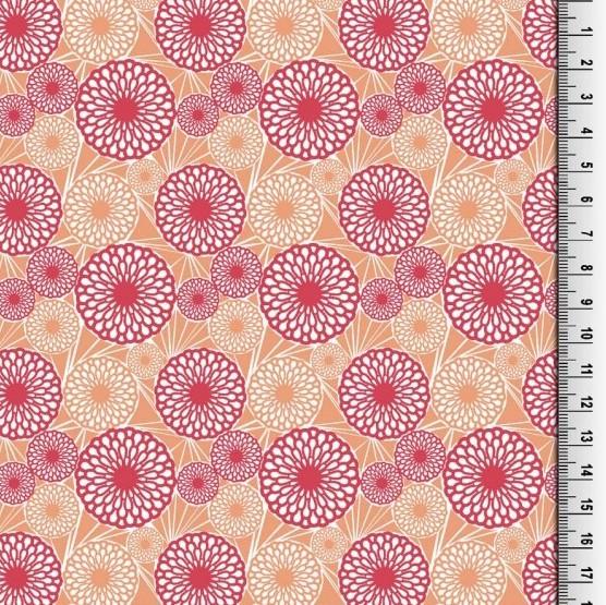 Love Flowers pink, Webstoff