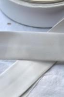 Einfassband Kunstleder, 30 mm, weiß