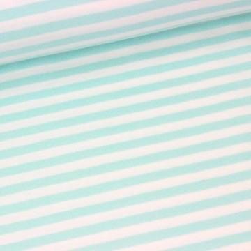 Emil, Streifen mint-weiß, Jersey