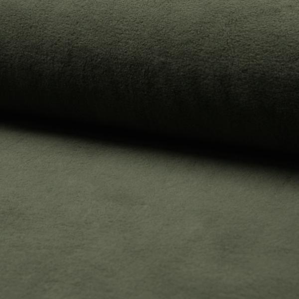 Baumwollfleece dunkles khaki