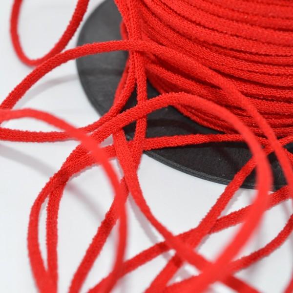 Gummischnur Lycra Elastic, 3 mm, rot