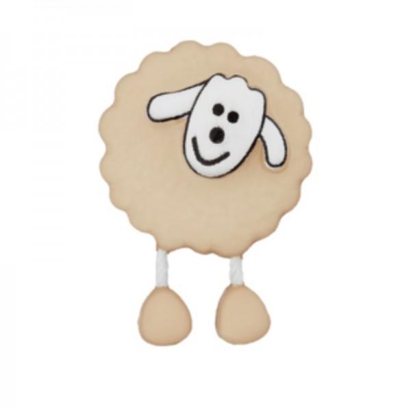 Schaf, beige, Knopf
