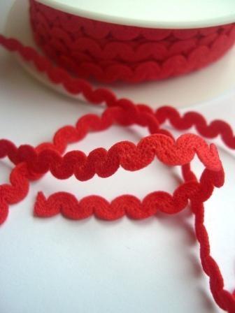 elastische Zackenlitze, rot