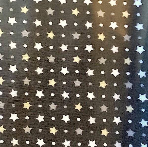 Laminat/Wachstuch, Sternchen auf anthrazit