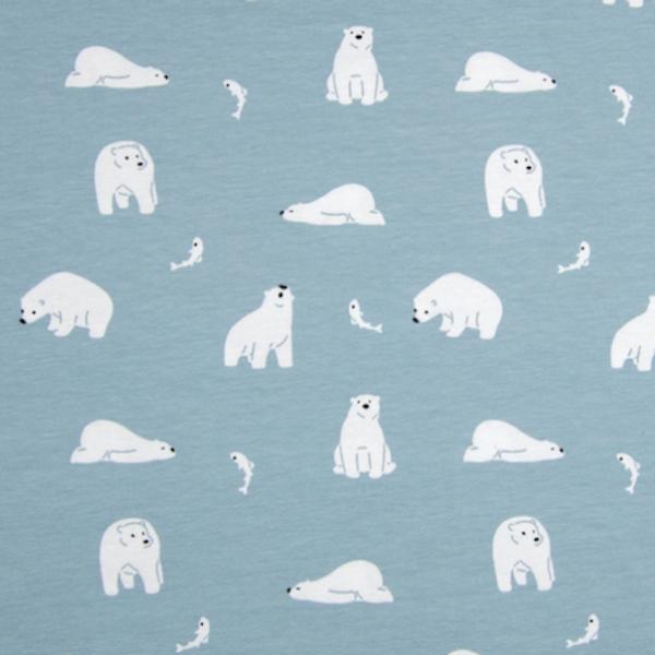Kleine Polarbären, hellblau, Jersey