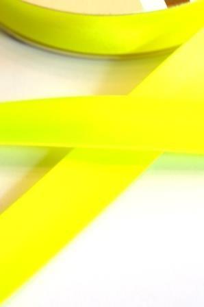 Satinschrägband, neongelb