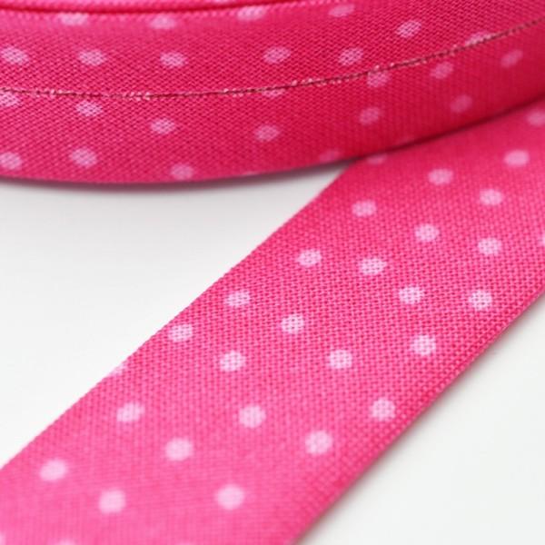 Westfalen Schrägband, Pünktchen pink-rosa
