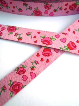 Rosenband, rosa, Webband
