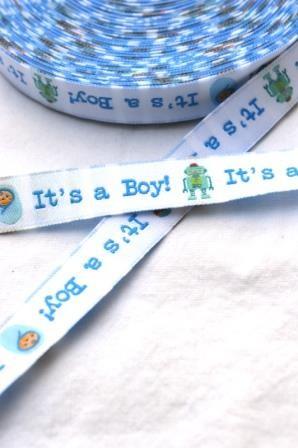 It's a boy, blau, Webband