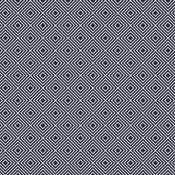Lili Squares, weiß auf dunkelblau, Webstoff