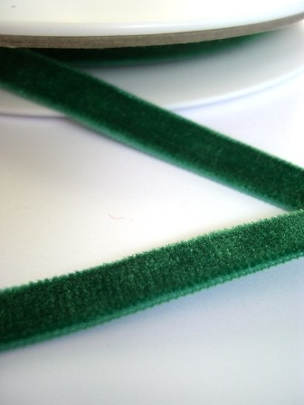 Samtband, 9 mm, dunkelgrün