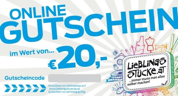 20 EUR Online Gutschein