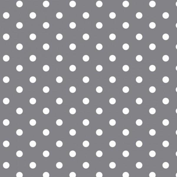 Lili Punkte mittel, grau, Webstoff, waschbar bei 60°