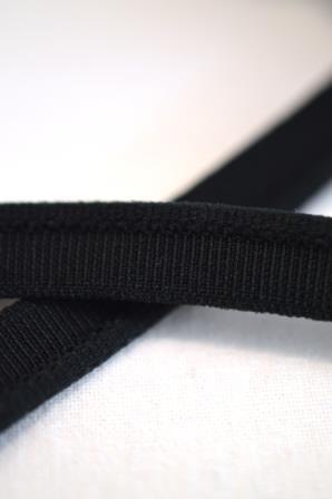 elastische Paspel, schwarz