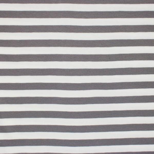 Streifenjersey breit, grau-weiß