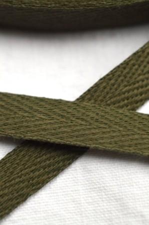 Köperband, 8 mm, khaki
