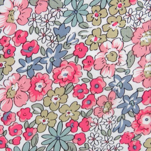 Sommerblumen pastellbunt, Baumwollstoff