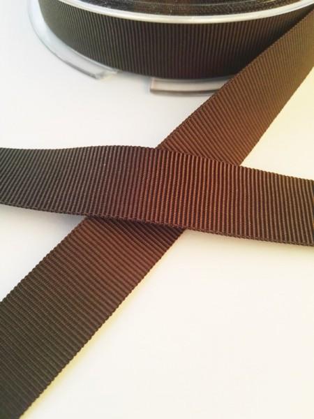 Ripsband, dunkelbraun