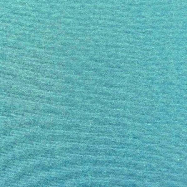 Glattes Bündchen türkisgrün-meliert