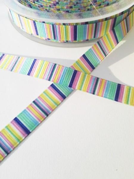 Multicolor, blau-grün, Ripsband