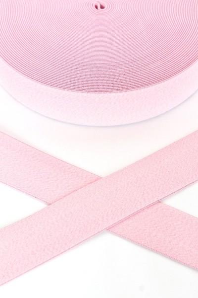 Gummiband breit, rosa meliert