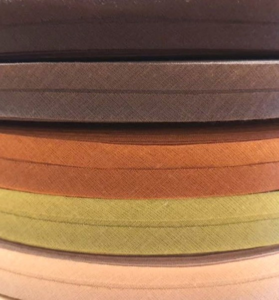 Package Schrägband, 20 mm, wood, 2 x 5 Meter