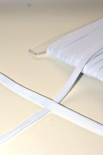 breite Kordel, 10 mm, weiß