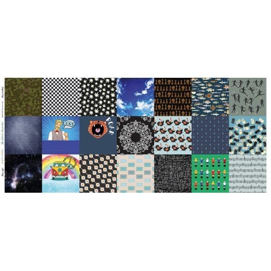 NEU! Maskenstoff Digitaldruck Blue für 21 Masken, Paneel, Baumwollstoff, waschbar bei 60°