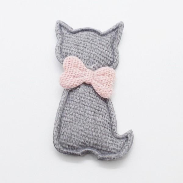 3D-Applikation Katze grau