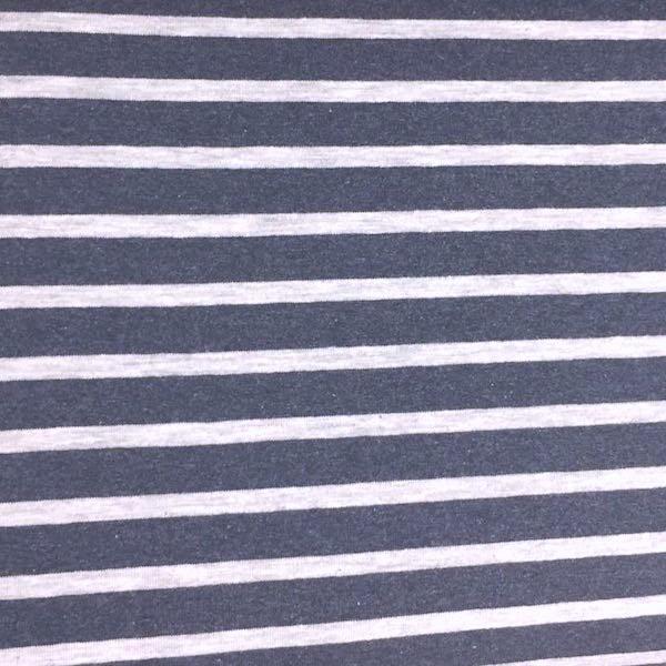 Streifen sand-meliert auf dunkelblau-meliert, Jersey