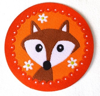 Applikation Fuchs, orange