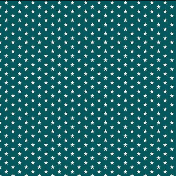 Lili Mini Stars petrol, Webstoff, waschbar bei 60°