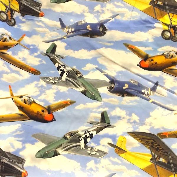 Digitaldruck Flugzeuge, Webstoff