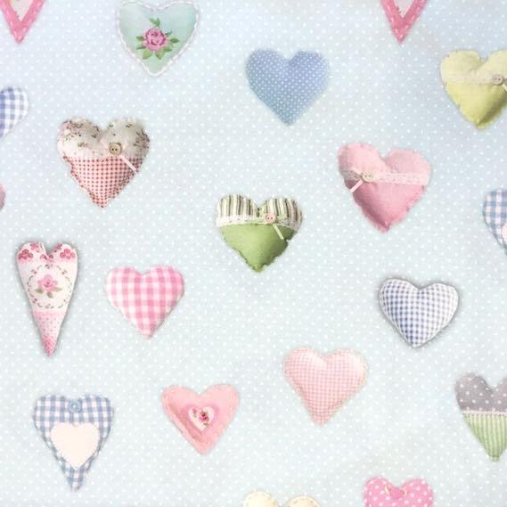 Digitaldruck Sweet Hearts, hellblau, Canvas, *SALE*