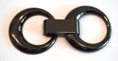 Metall Zierverschluss 34 x 70 mm, dunkelgrau