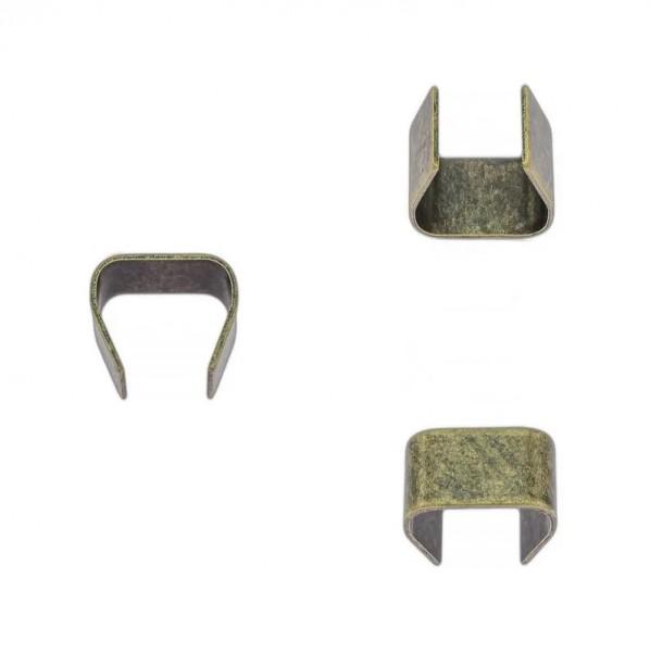 Seilklemme, altmessing, 8 mm