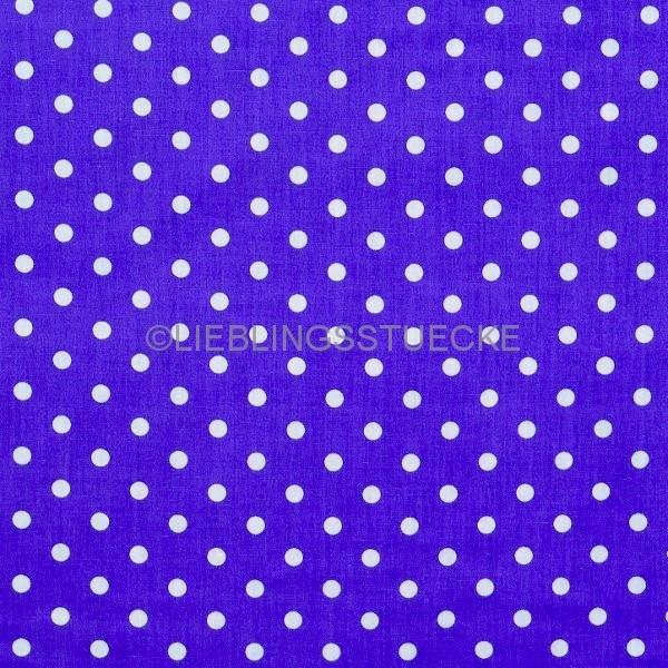 Lili Punkte mittel, royalblau, Webstoff, waschbar bei 60°