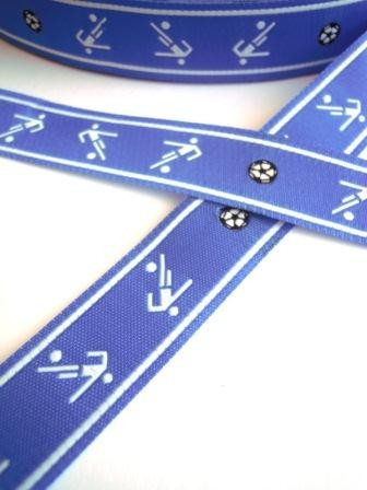 Torjäger, blau, Webband *SALE*