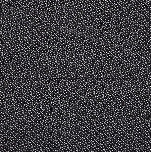 Florenz, Viskosewebstoff Strich-Punkt, schwarz