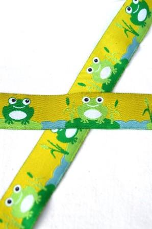 Frösche, hellgrün, Webband