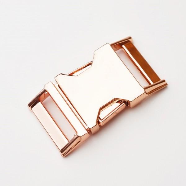 massive Metallschnalle, 40 mm kupfer / rose gold